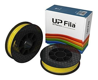 Afbeeldingen van UP Fila ABS Plastic Filament, Geel 2 x 500 g Rolls (Pack of 2)