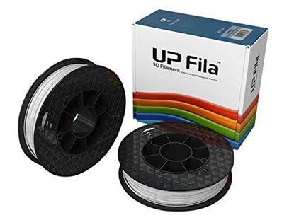 Picture of UP Fila ABS+ Plastic Filament, Wit 2 x 500 g Rol (2 stuks)
